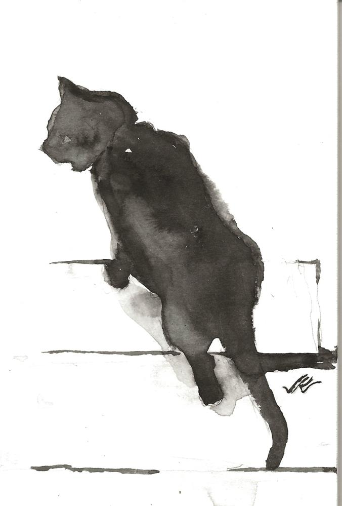 """Daily Cat 90"" original fine art by Jean Krueger"