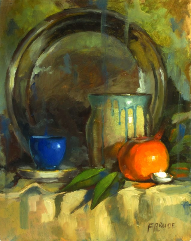 """""""Shell and orange"""" original fine art by Dave Froude"""