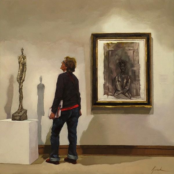 """Visiting Annette"" original fine art by Karin Jurick"