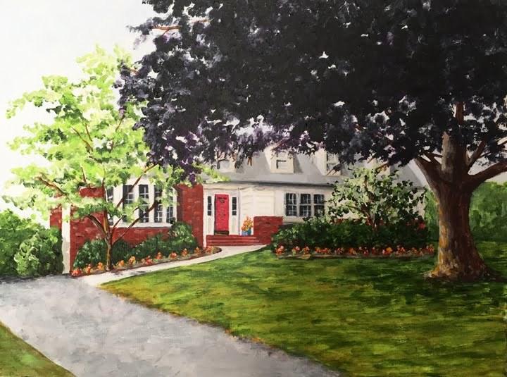 """Home Sweet Home"" original fine art by Nan Johnson"