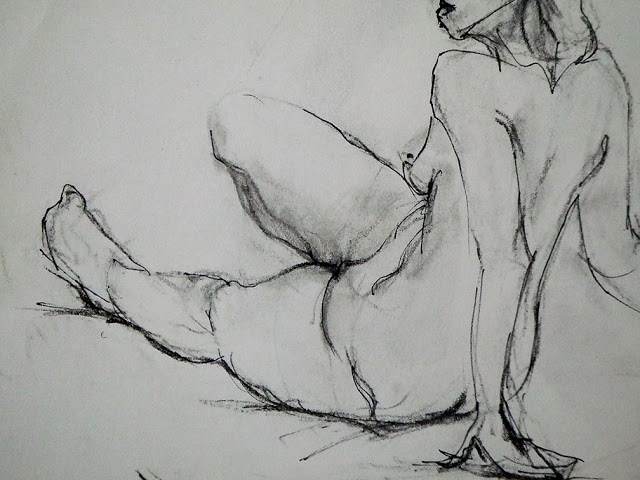 """sketch- at the open studio"" original fine art by Mitsuru Cope"