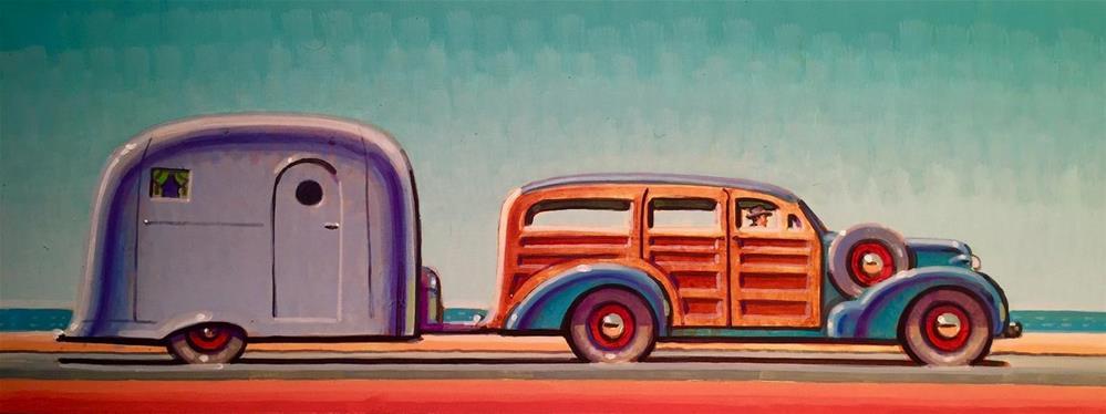 """Coast Highway"" original fine art by Robert LaDuke"