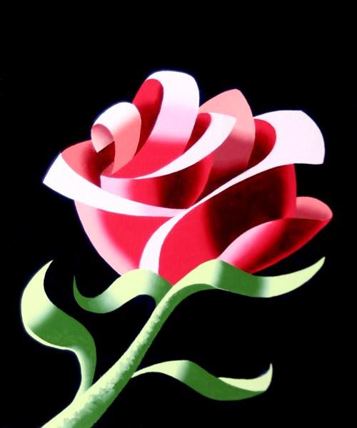 """Mark Webster Artist - Abstract Geometric Rose #3 Still Life Painting"" original fine art by Mark Webster"