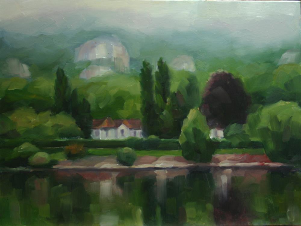 """Misty Morning on the Seine"" original fine art by Catherine Jeffrey"