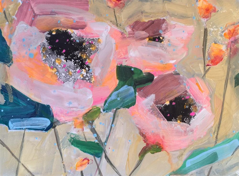 """399 Inky Flowers 2"" original fine art by Jenny Doh"