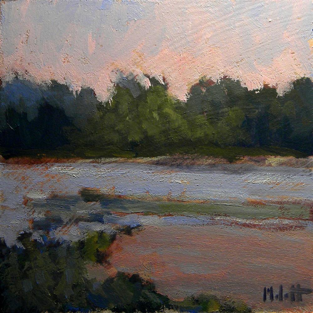 """Sunrise Lake"" original fine art by Heidi Malott"