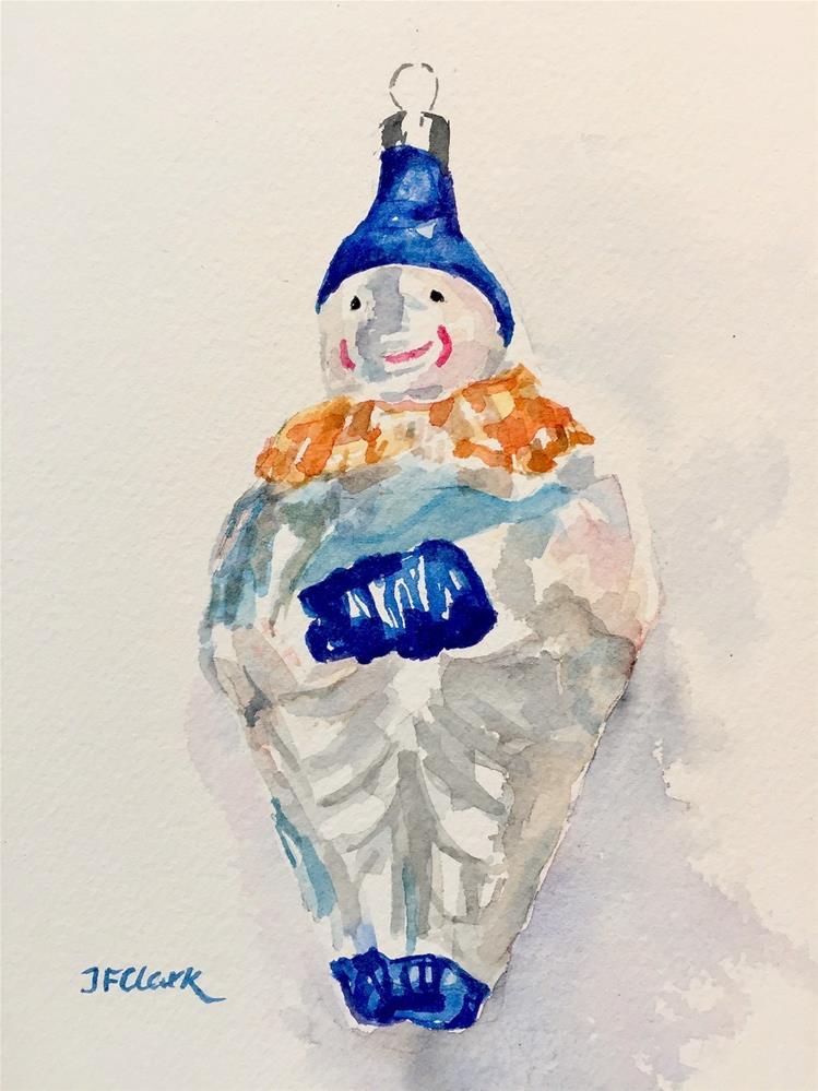 """Christmas Ornament, #1"" original fine art by Judith Freeman Clark"