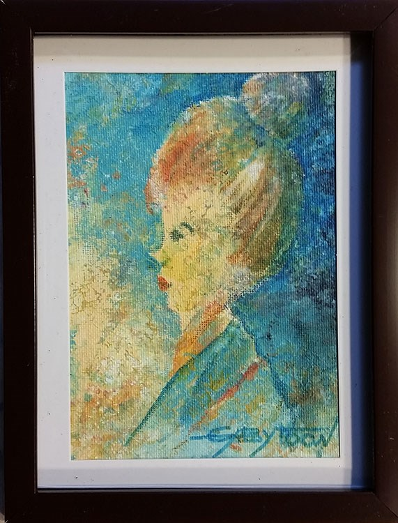 """The Teacher"" original fine art by Gabriella DeLamater"