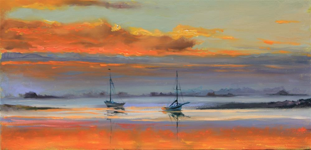 """Sunset"" original fine art by Marco Vazquez"