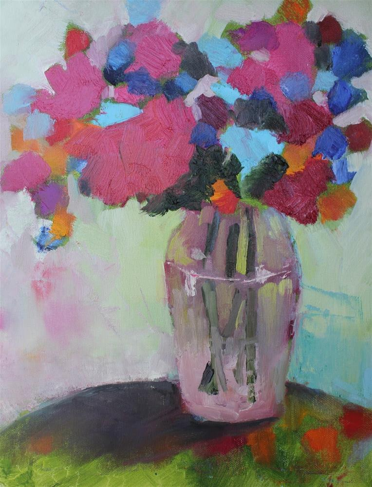 """May Flowers, Contemporary Floral Paintings by Amy Whitehouse"" original fine art by Amy Whitehouse"