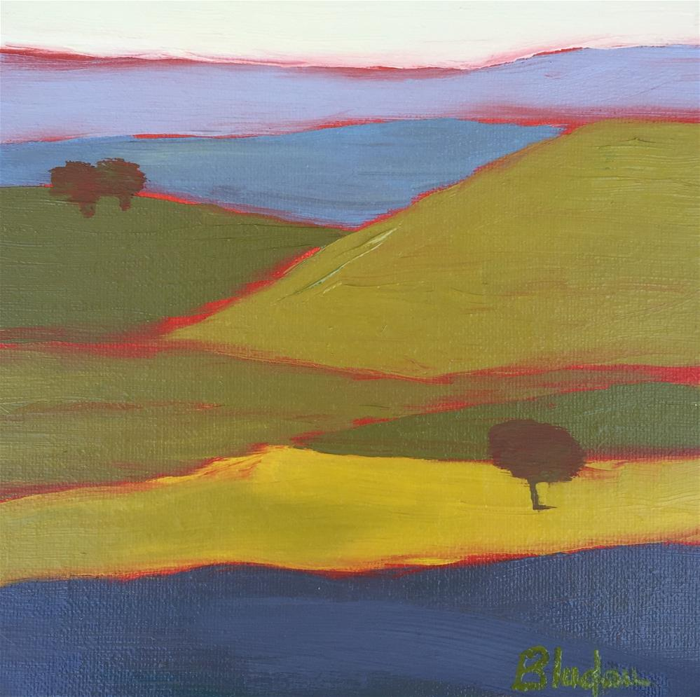 """Hills Of Color"" original fine art by Janet Bludau"
