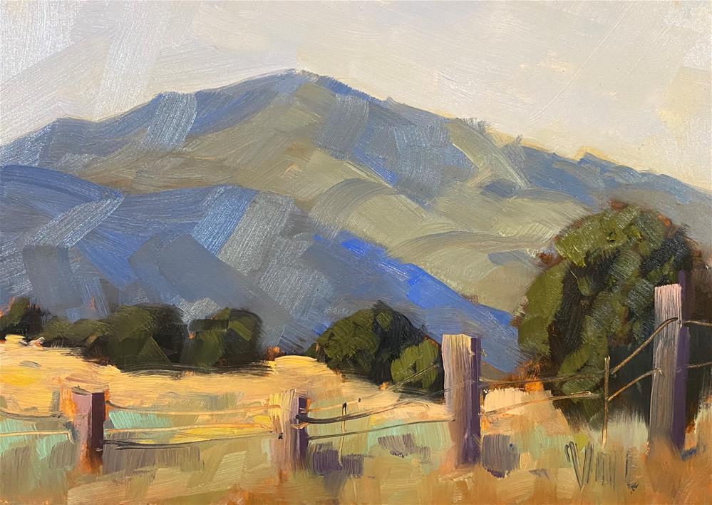 """Monday Mountain Study"" original fine art by Patty Voje"