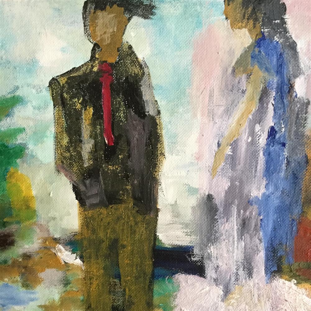 """Going out"" original fine art by pamela kish"