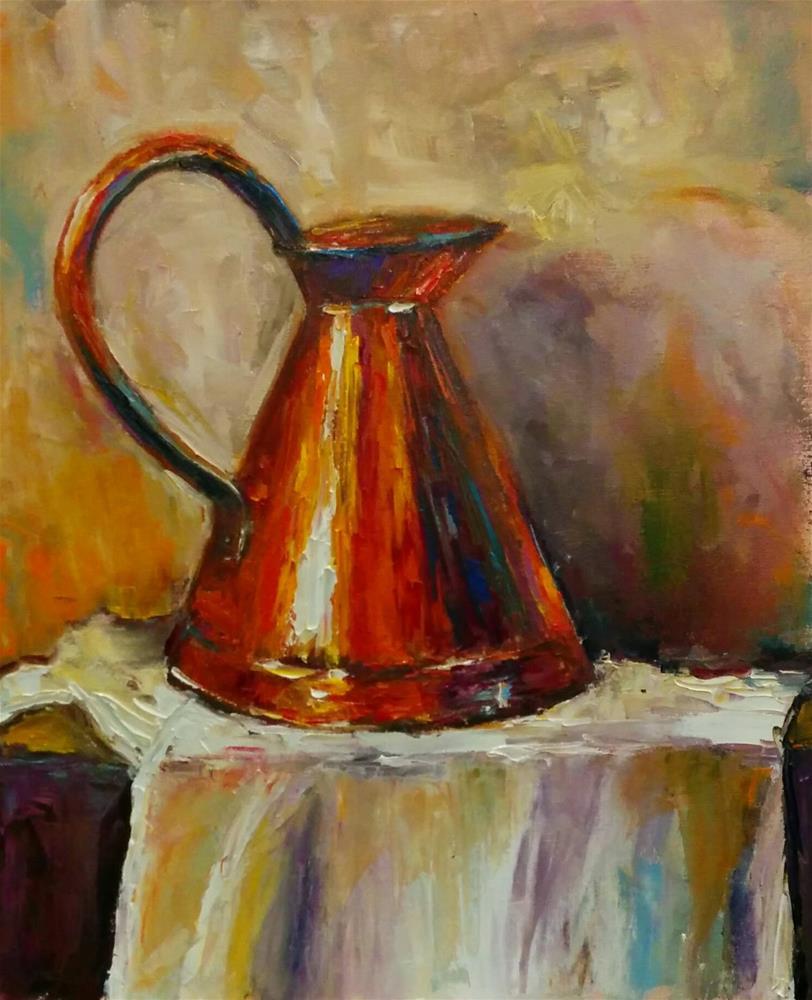 """Copper"" original fine art by pepa sand"