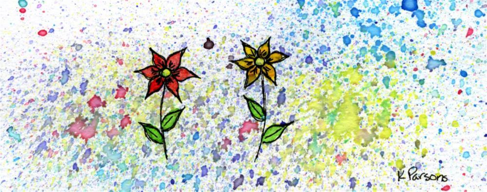 """Together yet Apart"" original fine art by Kali Parsons"
