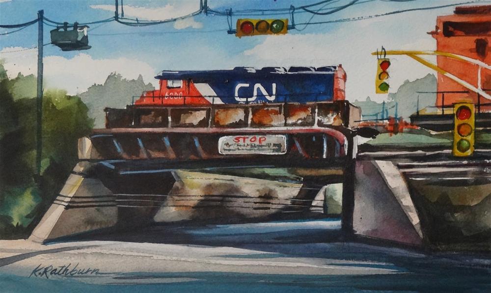 """Insights on Industry IX"" original fine art by Kathy Los-Rathburn"