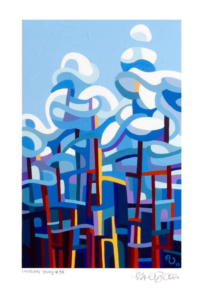 """Landscape Study #34"" original fine art by Mandy Budan"