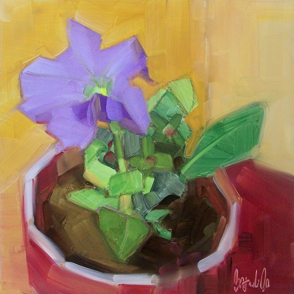 """Petunia"" original fine art by Brandi Bowman"