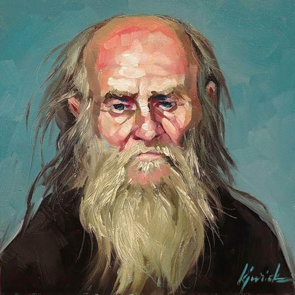 """200 Faces, No. 133"" original fine art by Karin Jurick"
