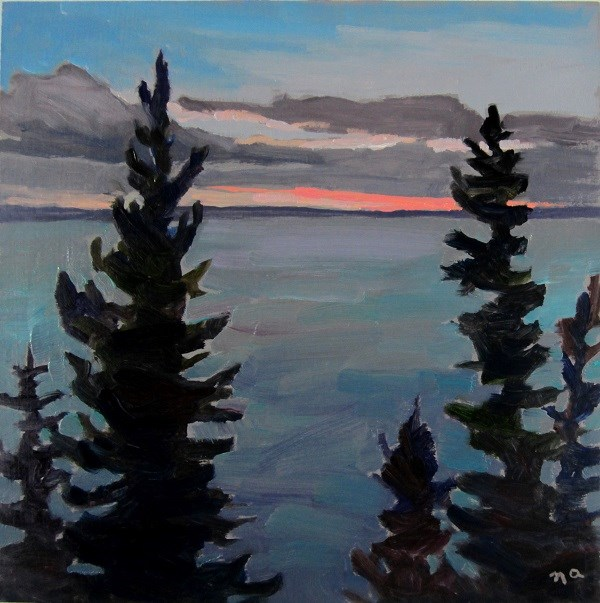 """Dusk, Waskesiu"" original fine art by Nicki Ault"