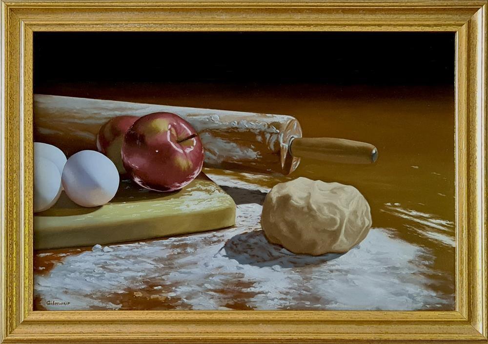 """""""Making Pie III"""" original fine art by M. Gilmour"""