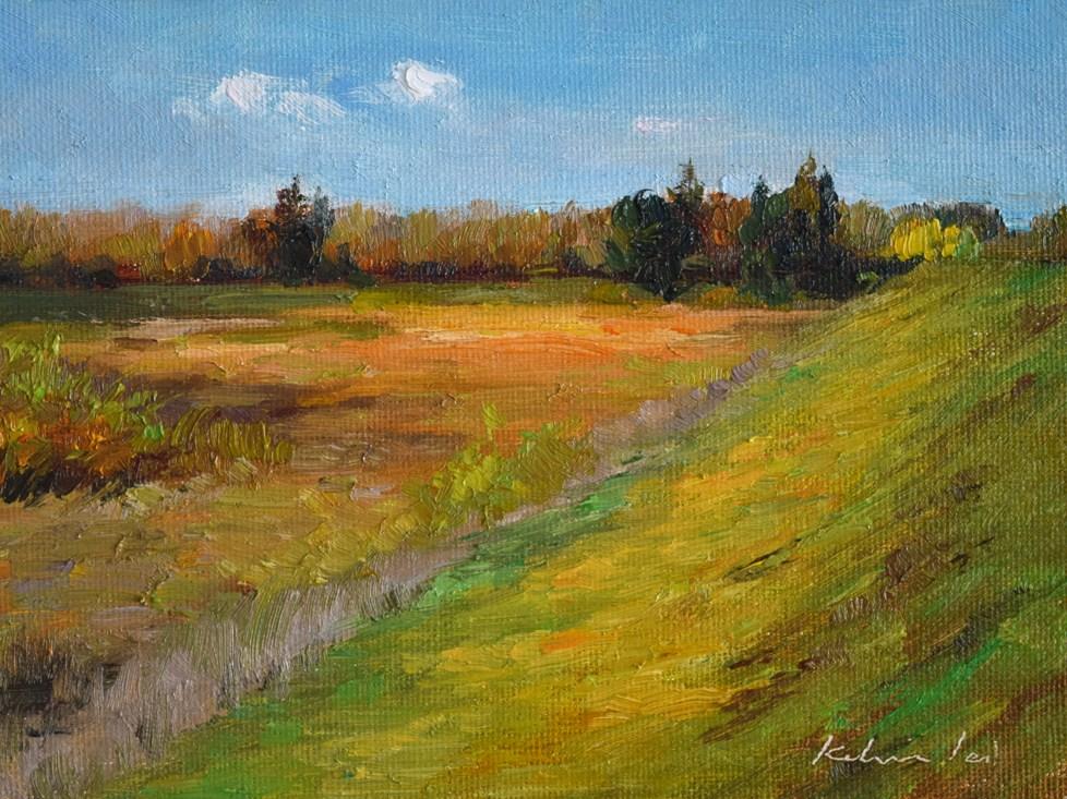 """""""The Guadalupe River Trail"""" original fine art by Kelvin Lei"""