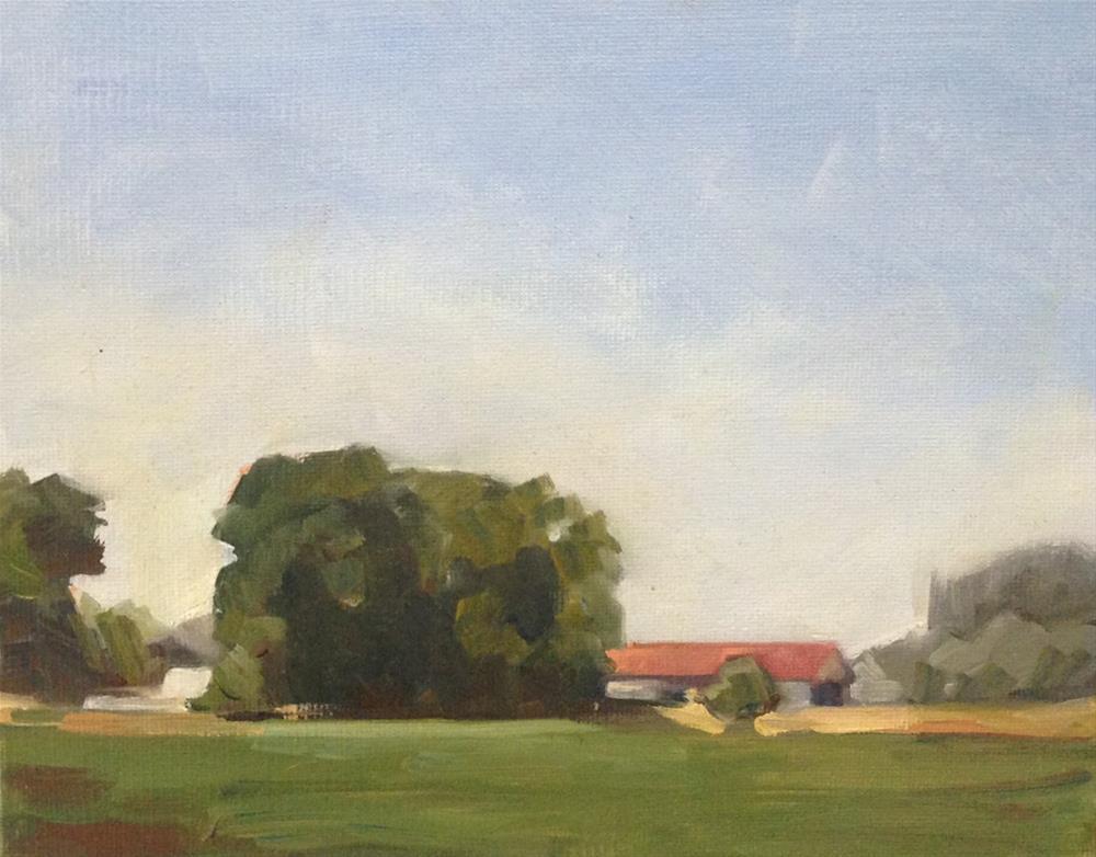 """""""The Bucolic Barn"""" original fine art by Patti McNutt"""