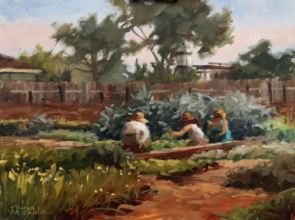 """""""Spring Farm Work"""" original fine art by Karen Werner"""