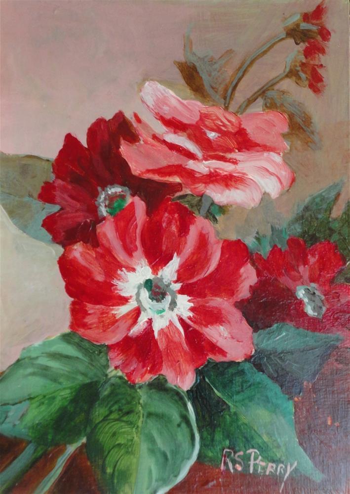 """Primrose"" original fine art by R. S. Perry"