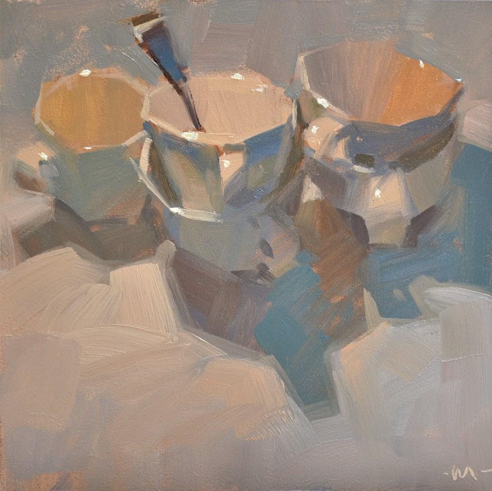 """""""Cup Confab"""" original fine art by Carol Marine"""
