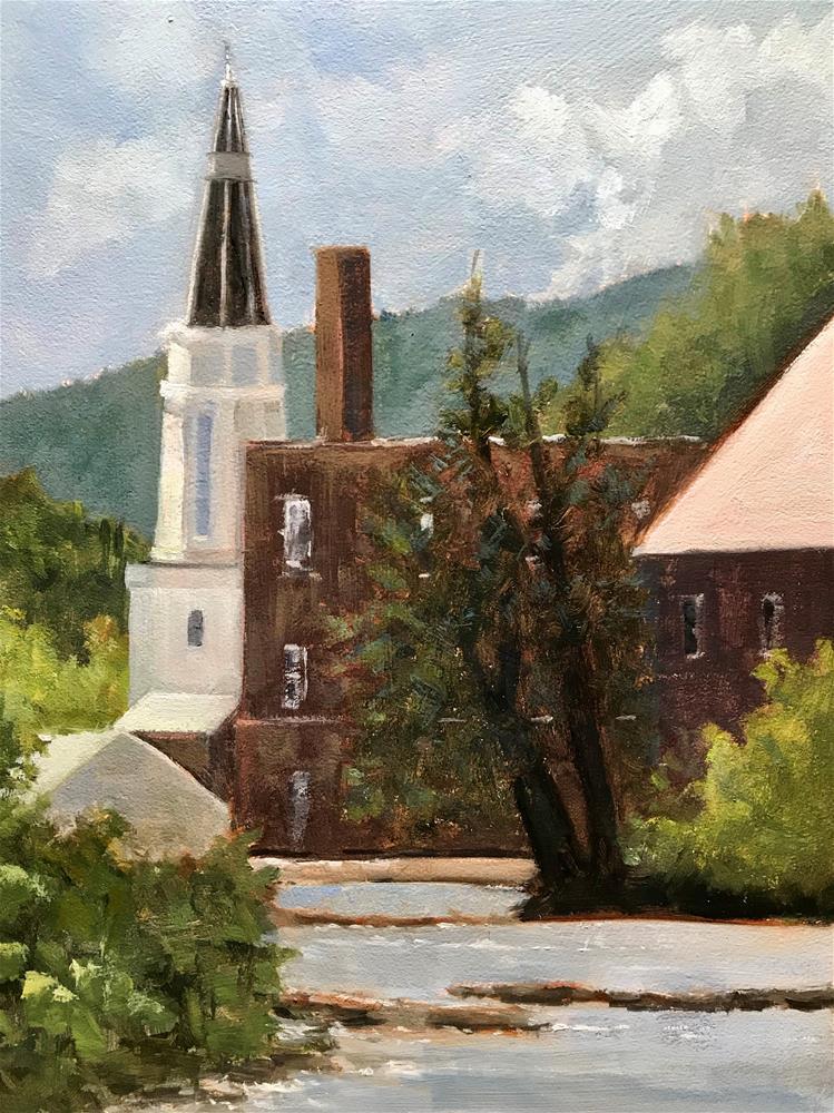 """""""springfield, Vermont"""" original fine art by Betty Argiros"""