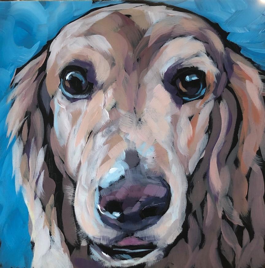 """7-6 Sweet Eyes"" original fine art by Kat Corrigan"