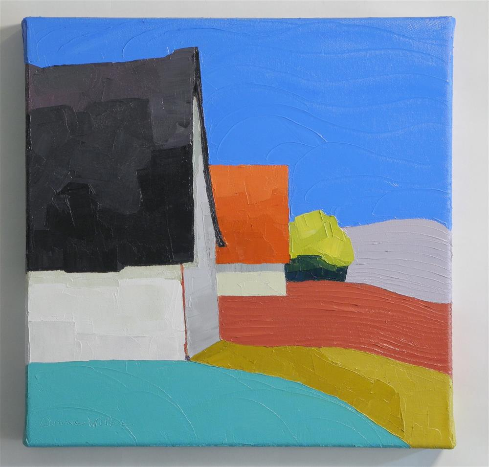 """Square Dance"" original fine art by Donna Walker"