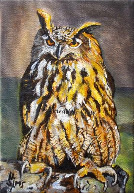 """Owl"" original fine art by Heather Sims"