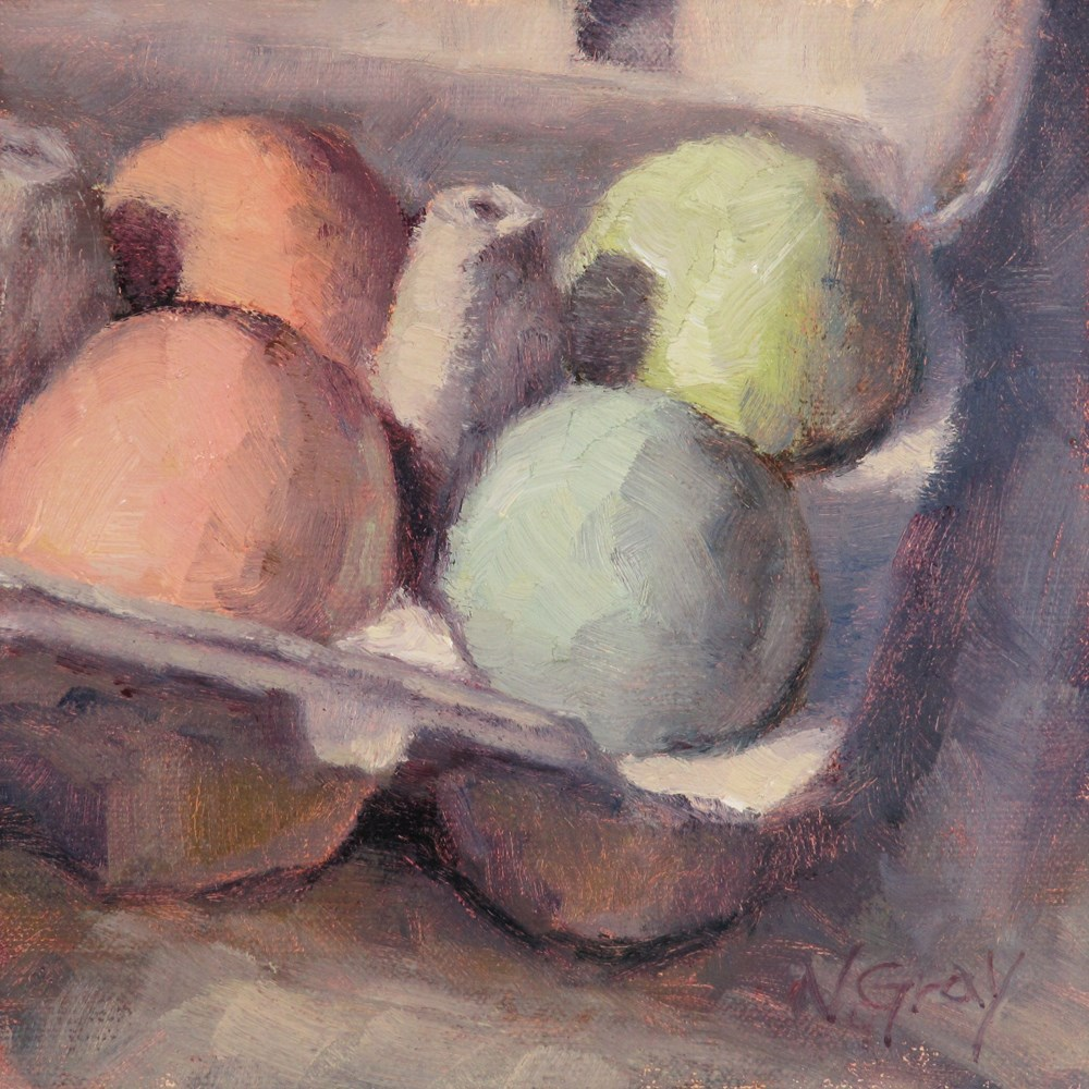 """Eggs of the Day"" original fine art by Naomi Gray"