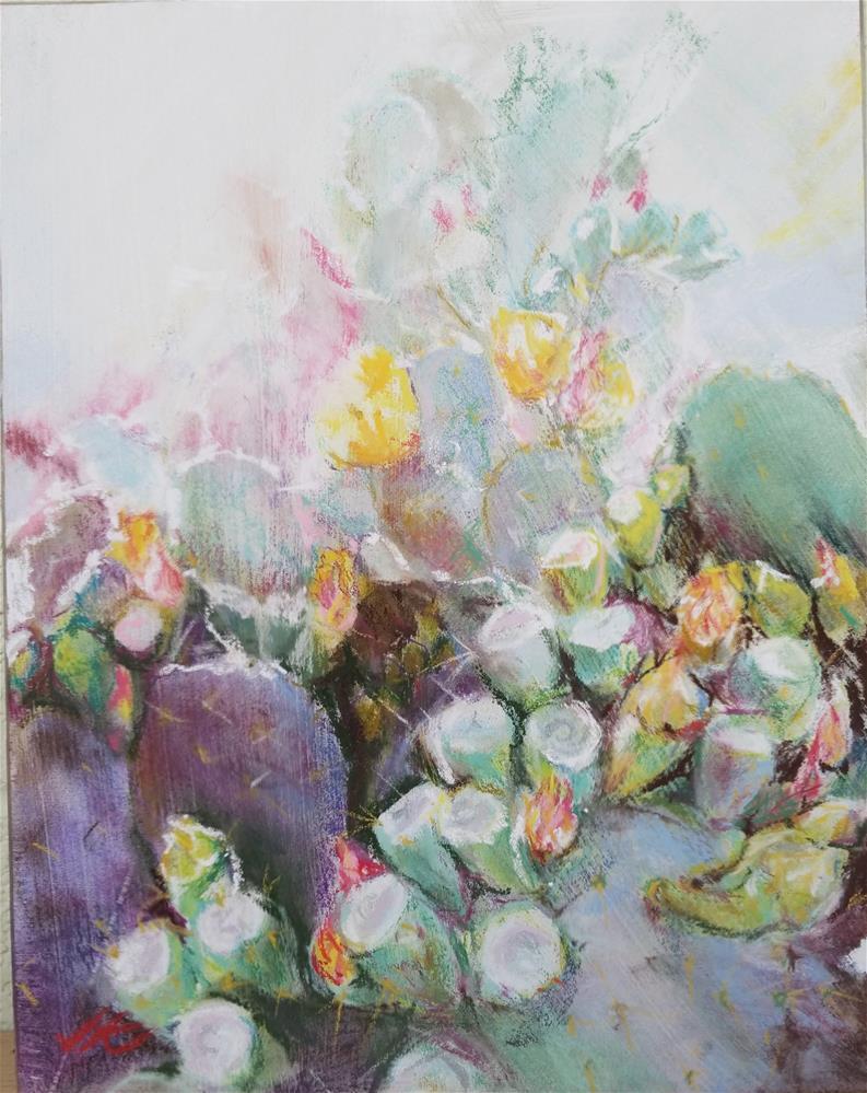 """Opuntia - Spring"" original fine art by Jean Krueger"