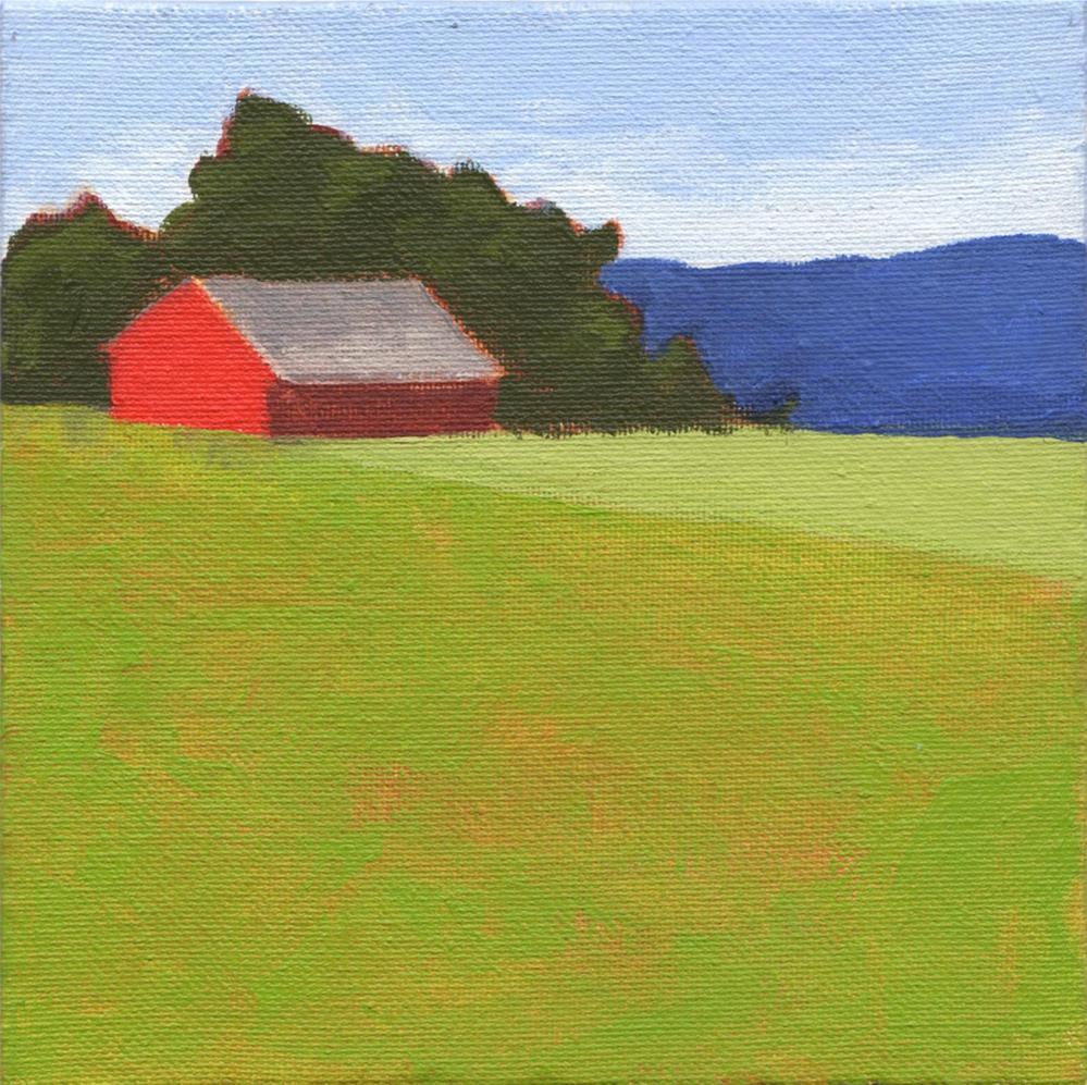 """Distant Farmhouse"" original fine art by Susan Bertocci"