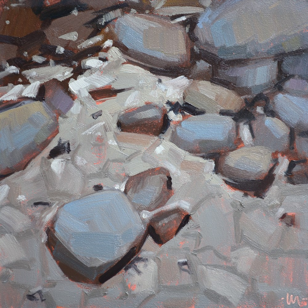 """Rock Values"" original fine art by Carol Marine"