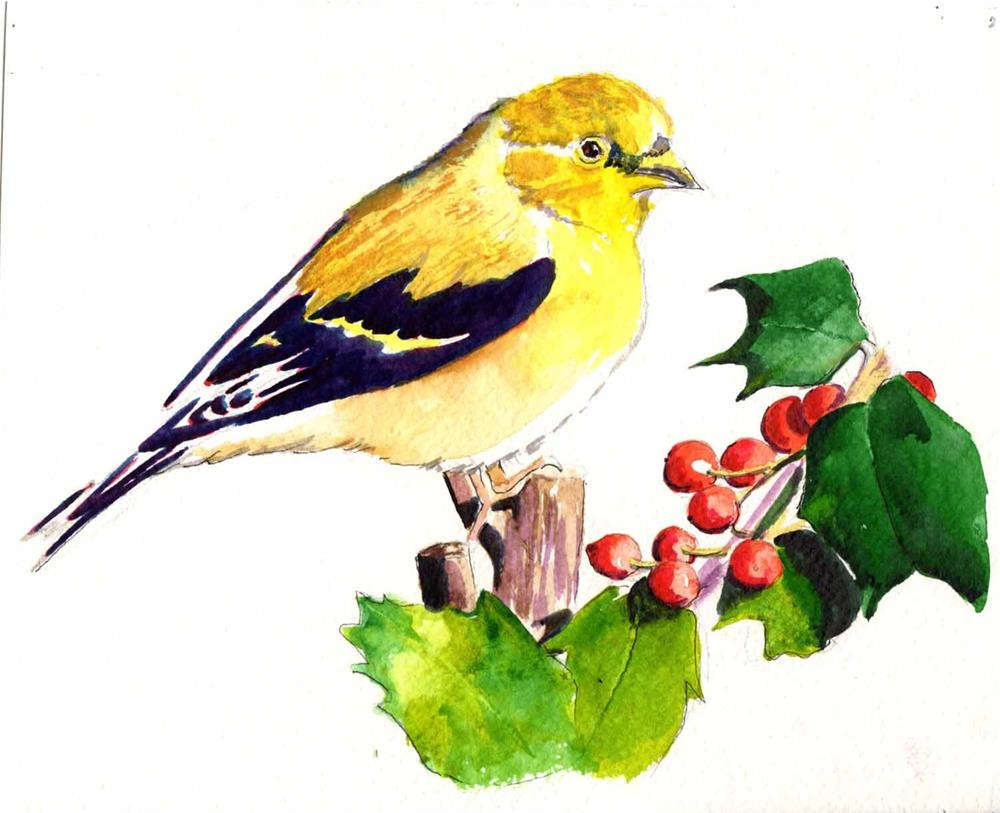 """""""Yellow Warbler"""" original fine art by Bunny Griffeth"""