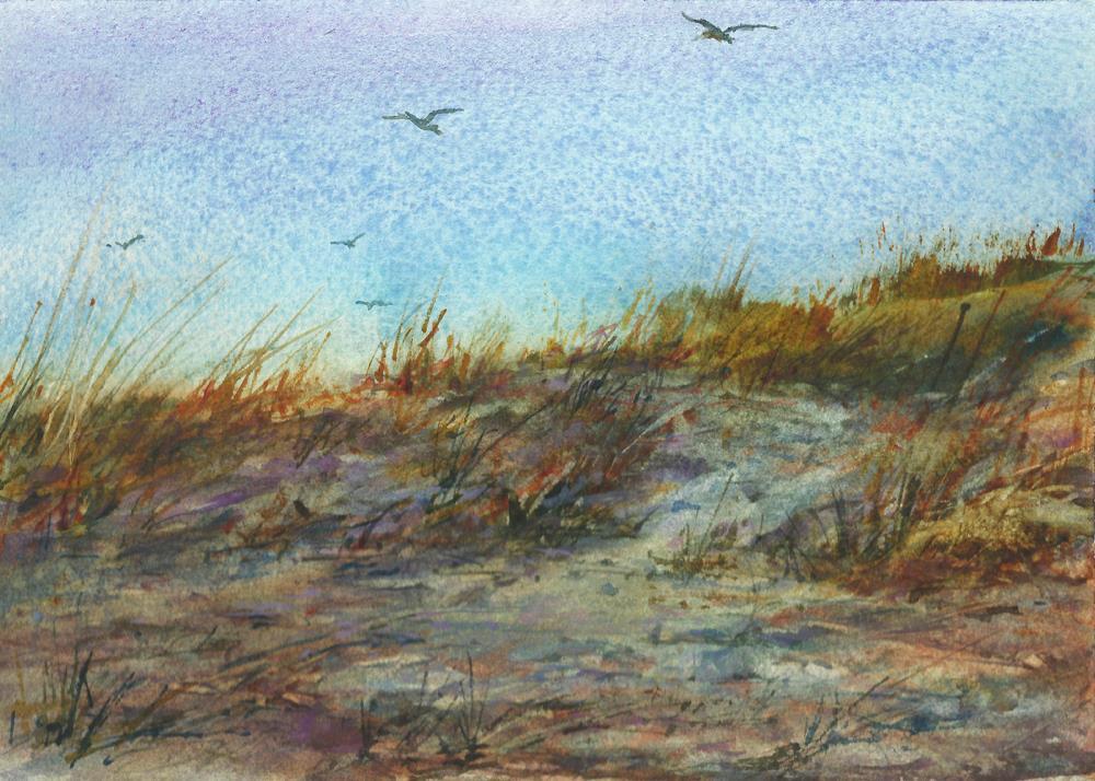 """Along the Dunes"" original fine art by Linda Henry"