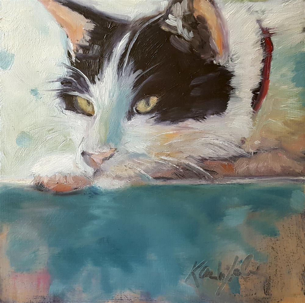 """""""Watching"""" original fine art by Karen Weber"""