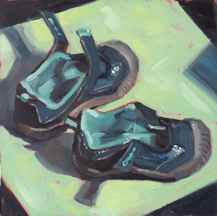 """""""Cami's New Shoes"""" original fine art by Nealy May Riley"""