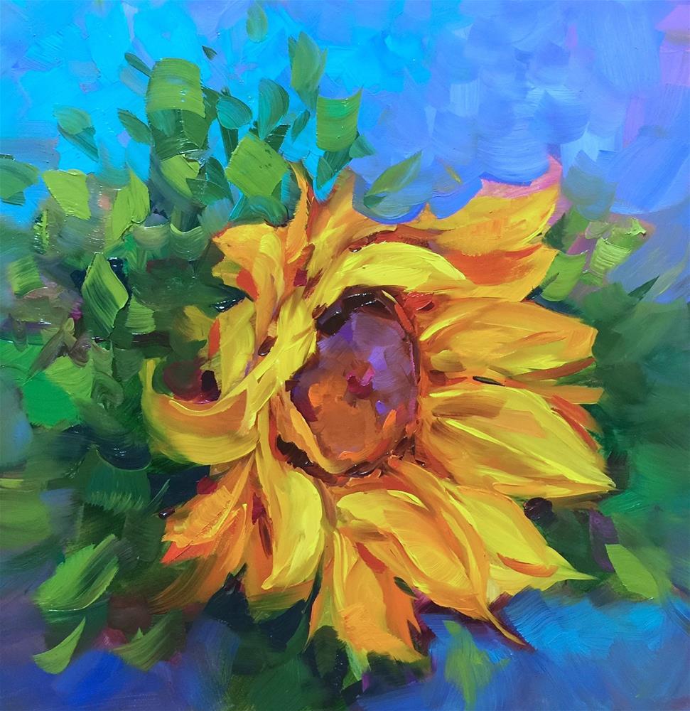 """A Free Sunflower Video ~ California Dreaming Sunflower ~ Nancy Medina Art"" original fine art by Nancy Medina"