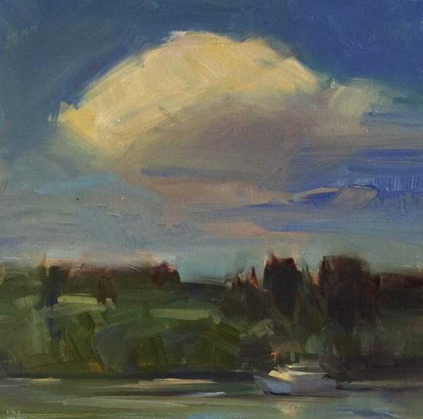 """Cloudscape over Bainbridge Island"" original fine art by Patti McNutt"