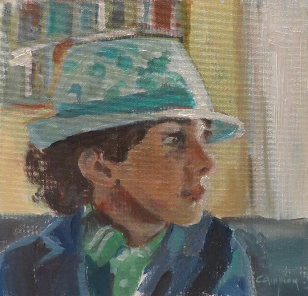 """769  When I Grow Up..."" original fine art by Diane Campion"