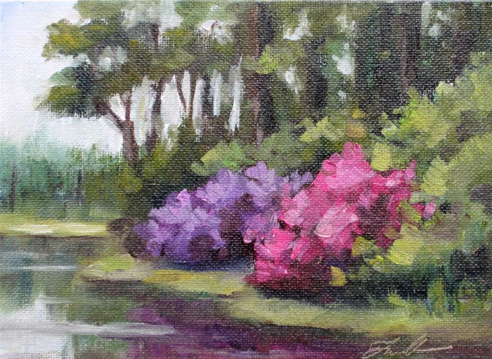 """Azalea Light 2"" original fine art by Pat Fiorello"