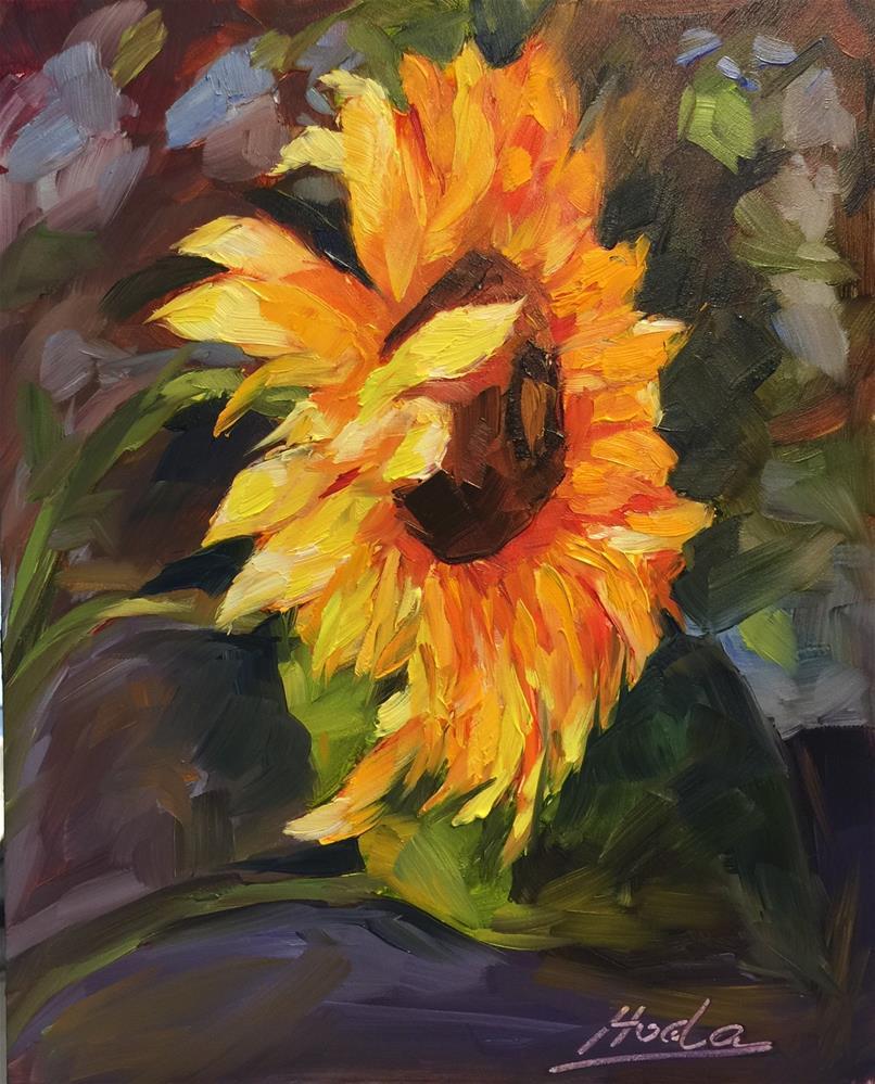 """Sun Dance"" original fine art by Hoda Nicholas"
