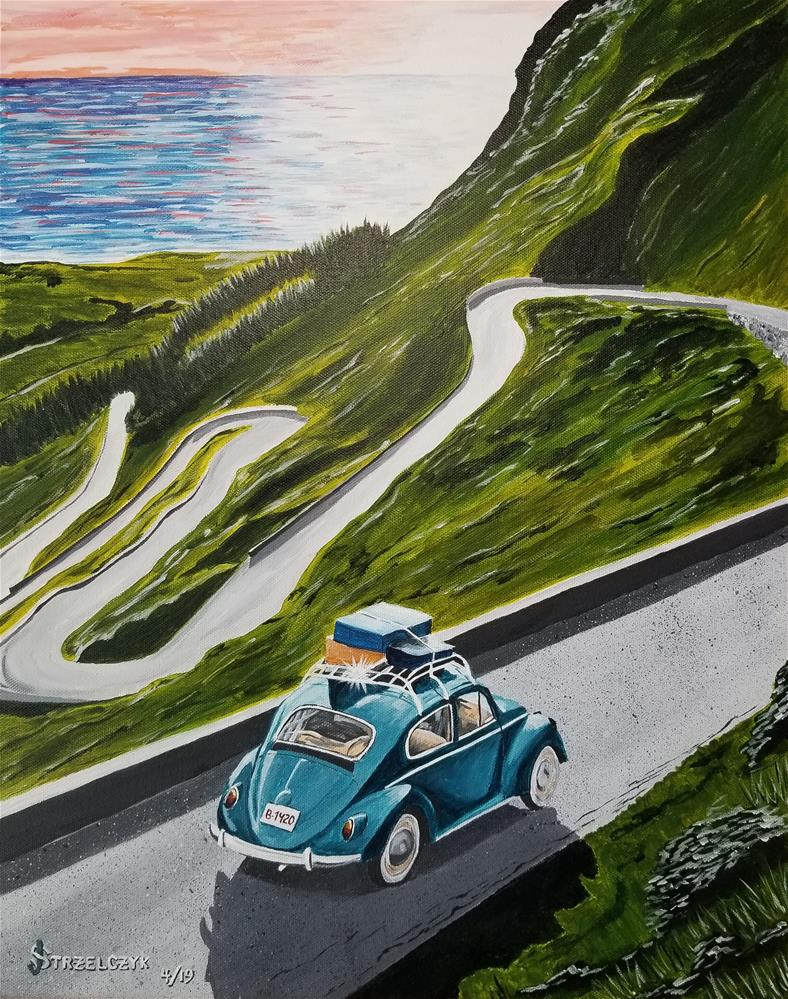 """Dream Road Trip"" original fine art by Jeff Strzelczyk"