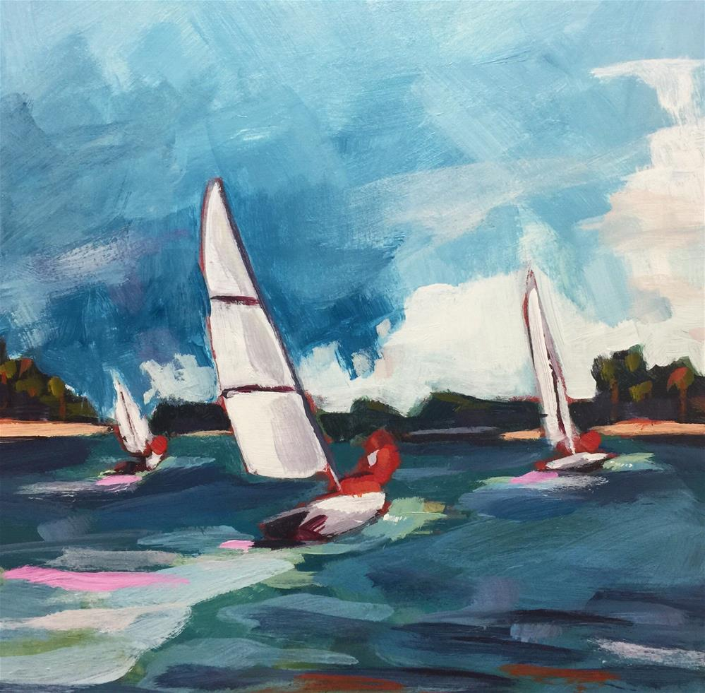 """Sailing on the Severn (#456)"" original fine art by Brian Miller"