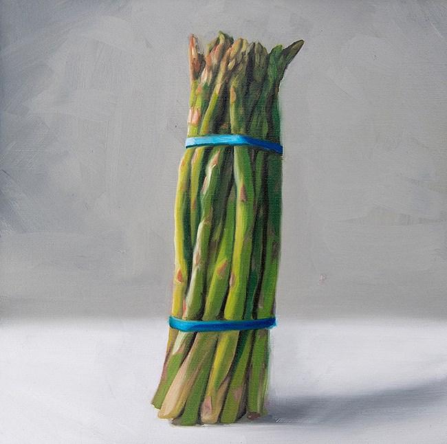 """Asparagus Bunch"" original fine art by Lauren Pretorius"